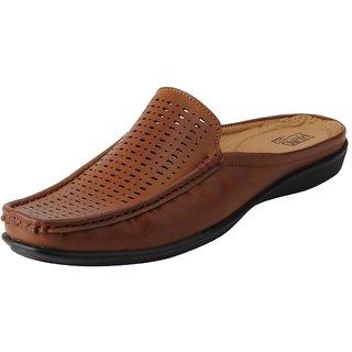 Bata Mens Tan Slip On Casual Shoes