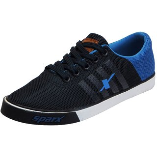 Sparx Mens Navy Blue Mesh Sneakers Casual Shoes