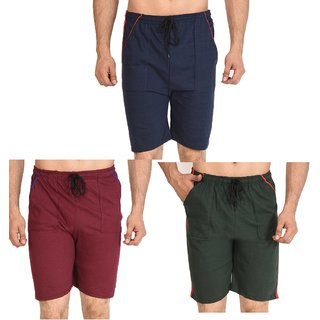 Dia A Dia Unisex Combo of 3 Cotton Shorts