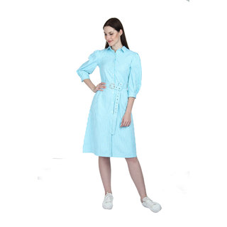 Women Shirt Light Blue Dress