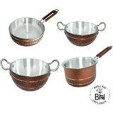 Bartan Hub Cookware set  kadhai  4000ml, kadhai 2500,saucepan 1500, frypan 22 cm