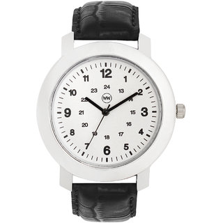 Wake Wood White Dial Watch For Men