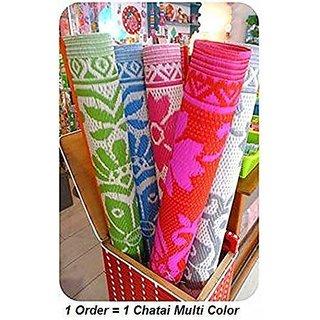 HomeStore-YEP Plastic Floor Mat/Chatai, Large (Random Colour  Design, Size - 6x4Feet)