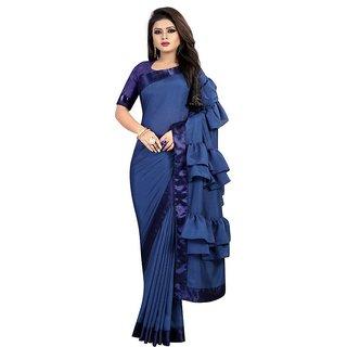 Bhuwal fashion vichitra silk ruffel saree-bf5216
