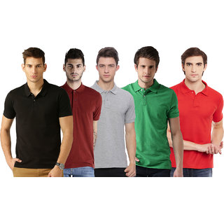 Concepts Multi Slim Fit Polo T Shirt Pack of 5