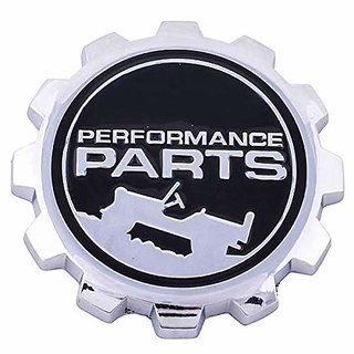 DATEEN Metal Jeep Performance Parts Car Emblem Badge Sticker Decal for Jeep (Silver)