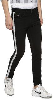 Campus Sutra Men Side White Stripe Stitching Denim Jeans