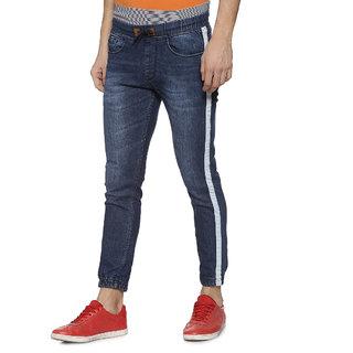 Campus Sutra Men Jogger Design Denim Jeans