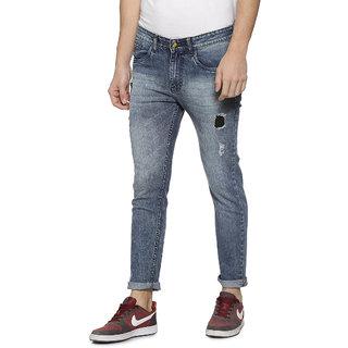 Campus Sutra Men Torn Denim Jeans