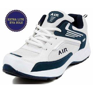 Ethics White Grey Mesh Rubber Running Shoes For Men