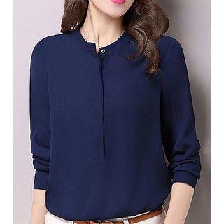 Rimsha women's wear blue formal top