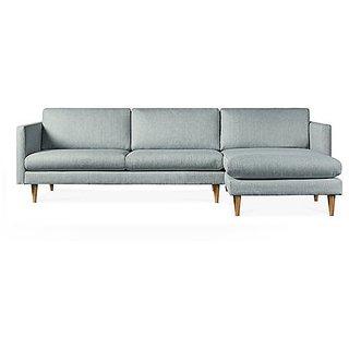 houzzcraft Elle L shape sofa grey