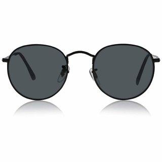 Meia UV Protected Black Round Sunglasses