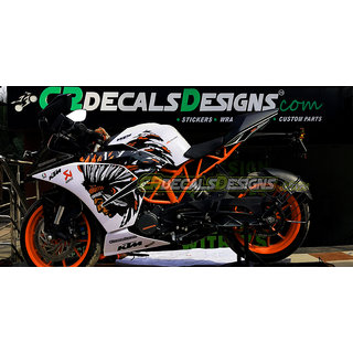 wrap and ride KTM RC 125/200/390 Power Full Body Kit Decal Bike Sticker
