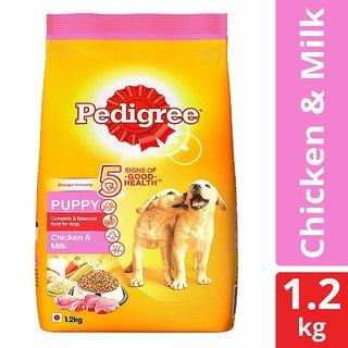 Pedigree Puppy Dry Dog Food, Chicken  Milk  1.2 kg Pack