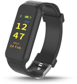 Portronics POR-799 Yogg HR Smart Fitness Tracker with Heart Rate Monitor, Detachable  Touch Sensitive Screen to improve