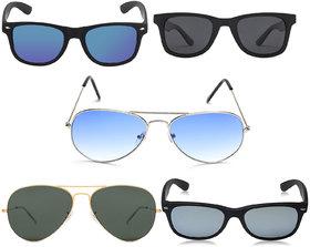 David Martin Combo Of 5 Sunglasses