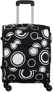 Timus Indigo Spinner Black 55 CM 4 Wheel Strolley Suitcase For Travel Cabin Luggage - 20 inch