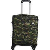 Timus Indigo Spinner Military Green Expandable Cabin Luggage   20 inch