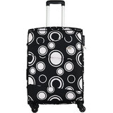 Timus Indigo Spinner Black Expandable Check in Luggage   25 inch