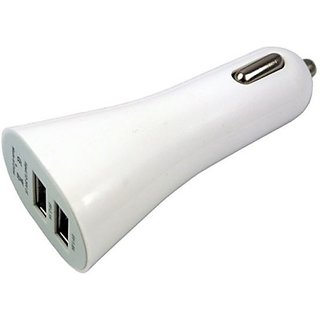 Dual USB car charger (Assorted Colors)