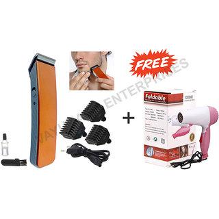 Combo Branded Hair Dryer + Men Rechargeable Cordless shaving machine NS -216 Trimmer