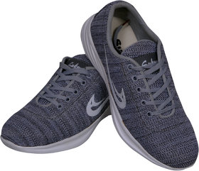 Sukun Mens Grey Sport Casual Shoes