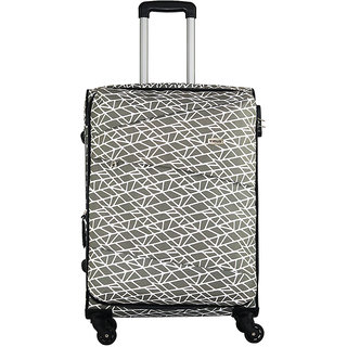 Timus Indigo Spinner Beige 65 CM 4 Wheel Strolley Suitcase For Travel Check-in Luggage - 24 inch