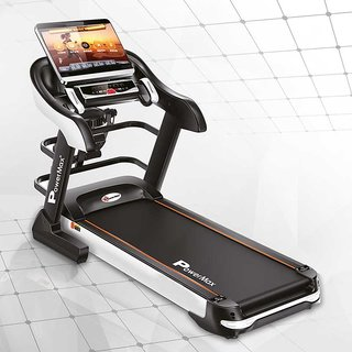 Powermax Fitness TDA-595 (4.0 HP) Multifunction Motorized Treadmill with 18.5in TFT Touch Screen and Auto Lubrication