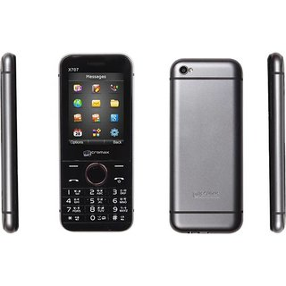 Micromax X707  Dual Sim 1000 mAh Battery, 2.4 Inch Display Size Mobile With LED Flash Camera, FM And Music Ringtones
