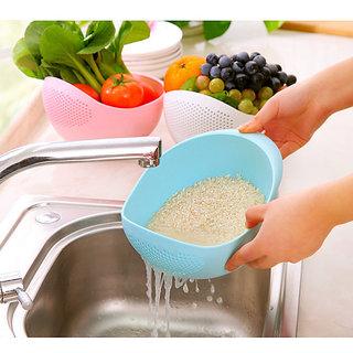 sell net retail Multipurpose Colander Vegetable And Fruit Basket Cum Rice Wash Sieve Washing Bowl Set of 1