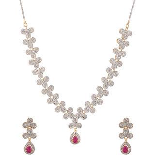 Voylla Resplendent Zircon Studded Necklace Set