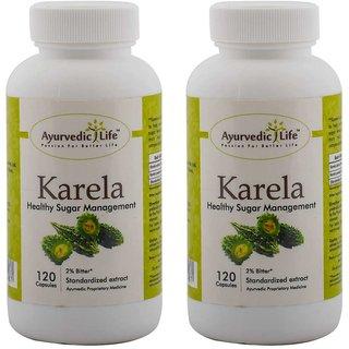 Ayurvedic Life Karela 120 capsules (Pack of 2)