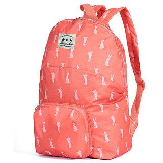 Style Homez OUTLANDER, Designer Folding Travel Hiking and Camping Backpack, Ultralight Waterproof 22 Litres Tangerine Color