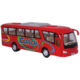 Jain Gift Gallery  7 Coach Bus Diecast Metal Door Openable and Pull Back Action From Flying Toyszer
