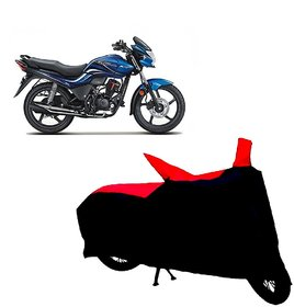 ABP Premium Red with Black-Matty Bike Body Cover For Hero Passion Xpro