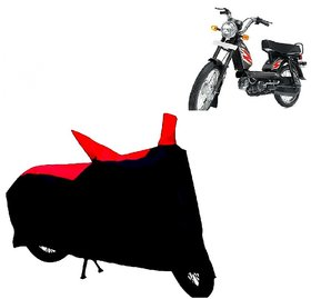 ABP Premium Red with Black-Matty Bike Body Cover For TVS Heavy Duty Super XL