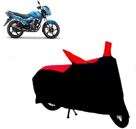 ABP Premium Red with Black-Matty Bike Body Cover For TVS Victor