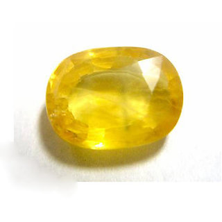 Yellow Sapphire 7.25 ratti Stone Unheated & Untreated Pukhraj stone By jaipur Gemstone