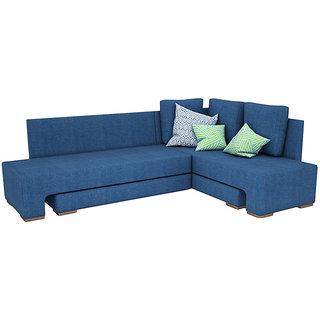 houzzcraft atheena sofa cum bed blue