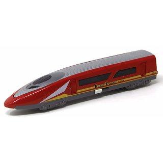 JGG Jain Gift Gallery Die cast Metal Bullet Train Diecast with Door Open ,Pull Back Mechanism (Red)