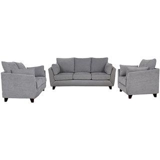 houzzcraft nikole sofa set (3+2+1) grey