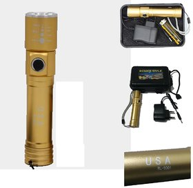 High power style rechargeable led torch flashlight long range 3 mode