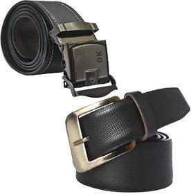 Sunshopping Men's Black Formal Leatherite Belt