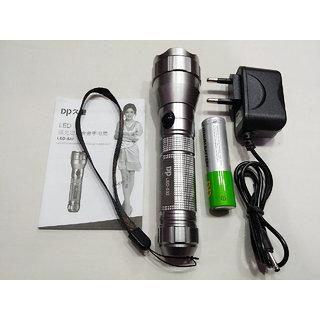 DP LED-532 Rechargeable CREE Flashlight 3 Modes Aluminium Handheld Torch