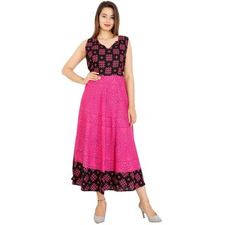 1ad13f9ad Buy UniqChoice Traditional Paisley printed Cotton Stitched Gown For Women's  Maxi Long Dress Brown Color( Free Size) Online - Get 62% Off