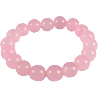 Rose Quartz Round Shape Baby Pink Crystal Bracelet 1 CM