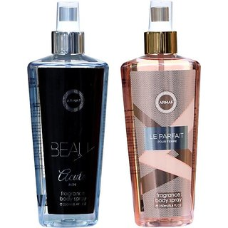 Armaf BEAU ACUTE AND LE PARFAIT Body Spray - For Men  Women  (500 ml, Pack of 2)