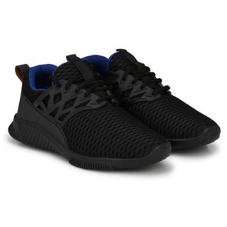 Clymb Surma Plus Black Ankle Walking Gym Running Sports Shoes For Men's In Various Sizes