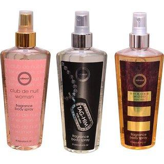 Armaf BEAU Body Spray - For Men  Women  (500 ml, Pack of 3)